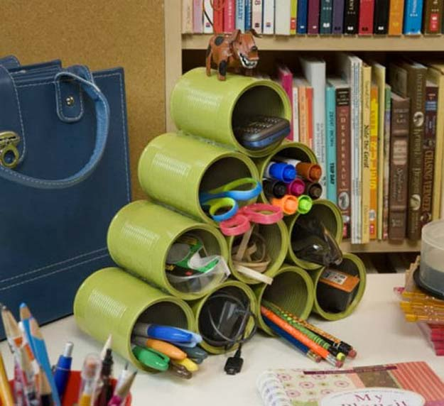Diy office desk accessories Do It Yourself Fun Diy Ideas For Your Desk Handy Desk Organizer Cubicles Ideas For Teens Diy Projects For Teens 40 Fun Diys For Your Desk