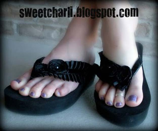 DIY Sandals and Flip Flops - xtraordinary and Elegant Flip-Flops - Creative, Cool and Easy Ways to Make or Update Your Shoes - Decorate Flip Flops with Cheap Dollar Store Crafts and Ideas - Beaded, Leather, Strappy and Painted Sandal Projects - Fun DIY Projects and Crafts for Teens and Teenagers http://diyprojectsforteens.com/diy-sandals