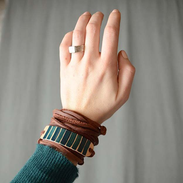 DIY Bracelets - Adjustable Knot Leather Bracelet - Cool Jewelry Making Tutorials for Making Bracelets at Home - Handmade Bracelet Crafts and Easy DIY Gift for Teens, Girls and Women - With String, Wire, Leather, Beaded, Bangle, Braided, Boho, Modern and Friendship - Cheap and Quick Homemade Jewelry Ideas