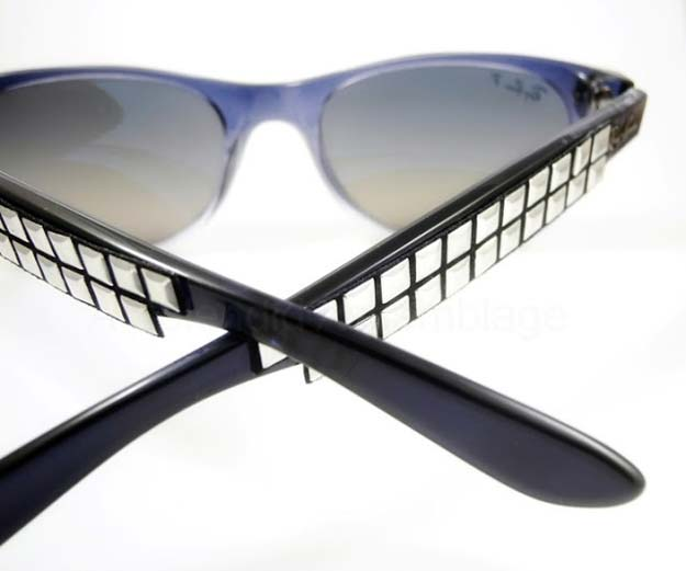 DIY Sunglasses Makeovers - DIY: Studded Sunglasses - Fun Ways to Decorate and Embellish Sunglasses - Embroider, Paint, Add Jewels and Glitter to Your Shades - Cheap and Easy Projects and Crafts for Teens http://diyprojectsforteens.com/diy-sunglasses-makeovers