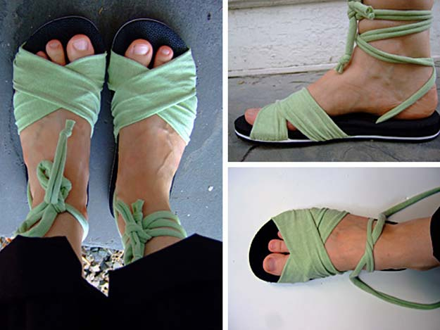 DIY Sandals and Flip Flops - Make Your Own Summer Sandals - Creative, Cool and Easy Ways to Make or Update Your Shoes - Decorate Flip Flops with Cheap Dollar Store Crafts and Ideas - Beaded, Leather, Strappy and Painted Sandal Projects - Fun DIY Projects and Crafts for Teens and Teenagers http://diyprojectsforteens.com/diy-sandals
