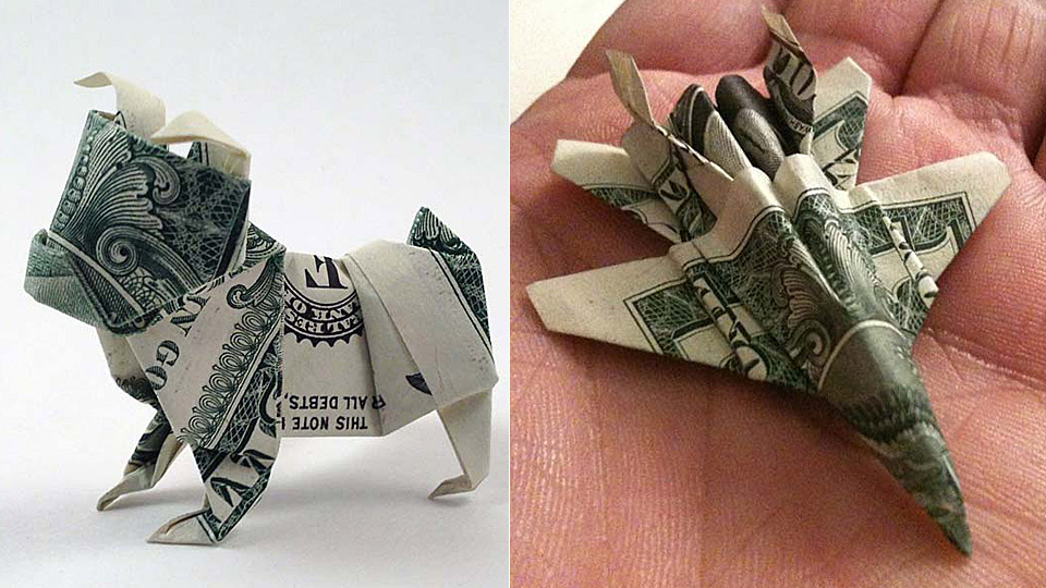 Money Origami PANTS Real One Dollar Bill Isolated Stock Image ... | 540x960