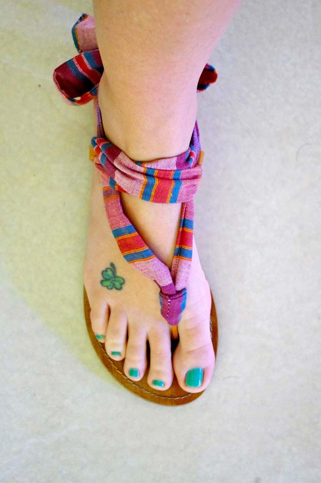 DIY Sandals and Flip Flops - Up-cycled Convertible Sandals - Creative, Cool and Easy Ways to Make or Update Your Shoes - Decorate Flip Flops with Cheap Dollar Store Crafts and Ideas - Beaded, Leather, Strappy and Painted Sandal Projects - Fun DIY Projects and Crafts for Teens and Teenagers