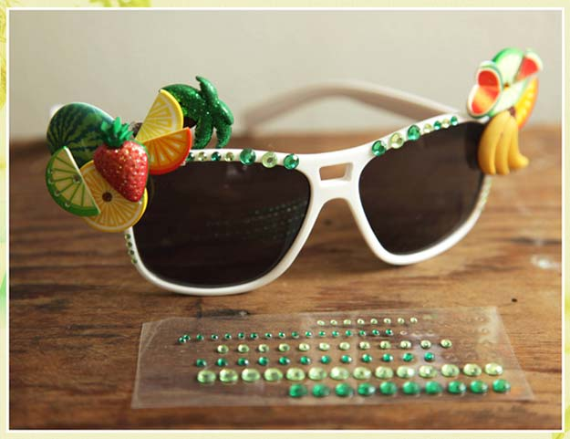 DIY Sunglasses Makeovers - DIY: Summer Shades - Fun Ways to Decorate and Embellish Sunglasses - Embroider, Paint, Add Jewels and Glitter to Your Shades - Cheap and Easy Projects and Crafts for Teens #diy #teencrafts #sunglasses