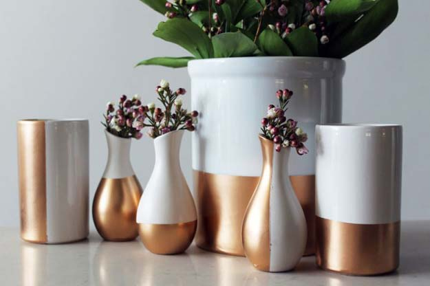 29 Gold Dipped Ceramic Vases Diy Projects For Teens