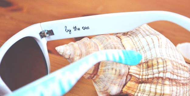 DIY Sunglasses Makeovers - A Hidden Message - Fun Ways to Decorate and Embellish Sunglasses - Embroider, Paint, Add Jewels and Glitter to Your Shades - Cheap and Easy Projects and Crafts for Teens http://diyprojectsforteens.com/diy-sunglasses-makeovers