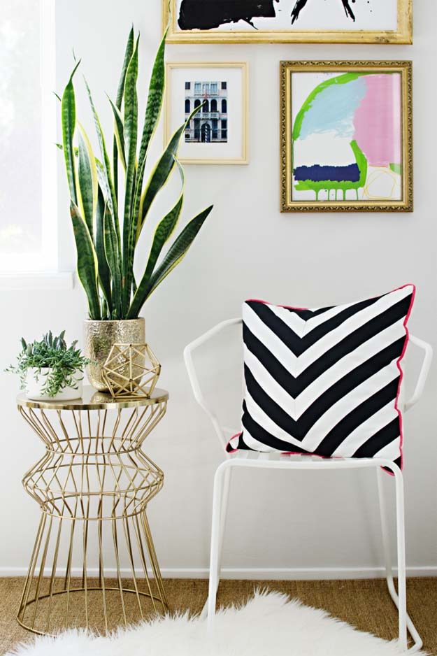 Diy Room Decor Ideas In Black And White Chevron Pillow Creative