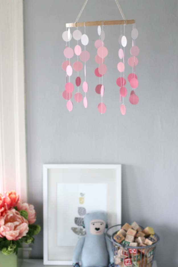 DIY Projects Made With Paint Chips - Paint Chip Mobile - Best Creative Crafts, Easy DYI Projects You Can Make With Paint Chips - Cool and Crafty How To and Project Tutorials - Crafty DIY Home Decor Ideas That Make Awesome DIY Gifts and Christmas Presents for Friends and Family http://diyjoy.com/diy-projects-paint-chips