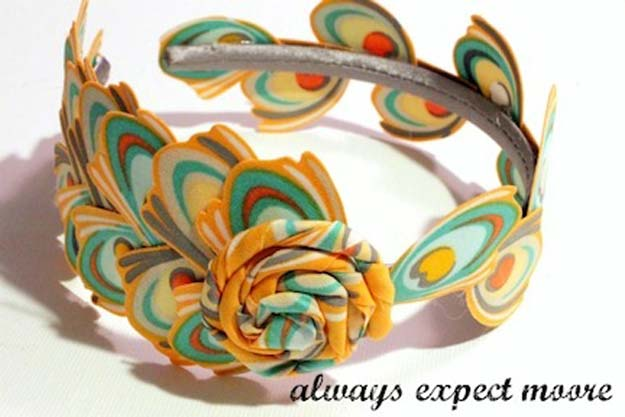 Crafts to Make and Sell - No-Sew Headband with Fabric Feathers - Easy Step by Step Tutorials for Fun, Cool and Creative Ways for Teenagers to Make Money Selling Stuff - Room Decor, Accessories, Gifts and More http://diyprojectsforteens.com/diy-crafts-to-make-and-sell