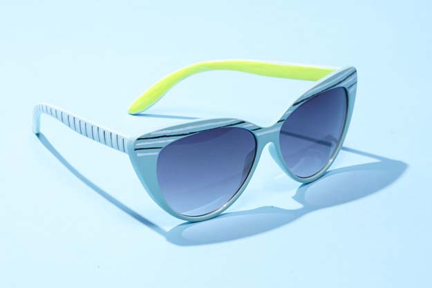 DIY Sunglasses Makeovers - Neon Nail Art Sunglasses - Fun Ways to Decorate and Embellish Sunglasses - Embroider, Paint, Add Jewels and Glitter to Your Shades - Cheap and Easy Projects and Crafts for Teens http://diyprojectsforteens.com/diy-sunglasses-makeovers