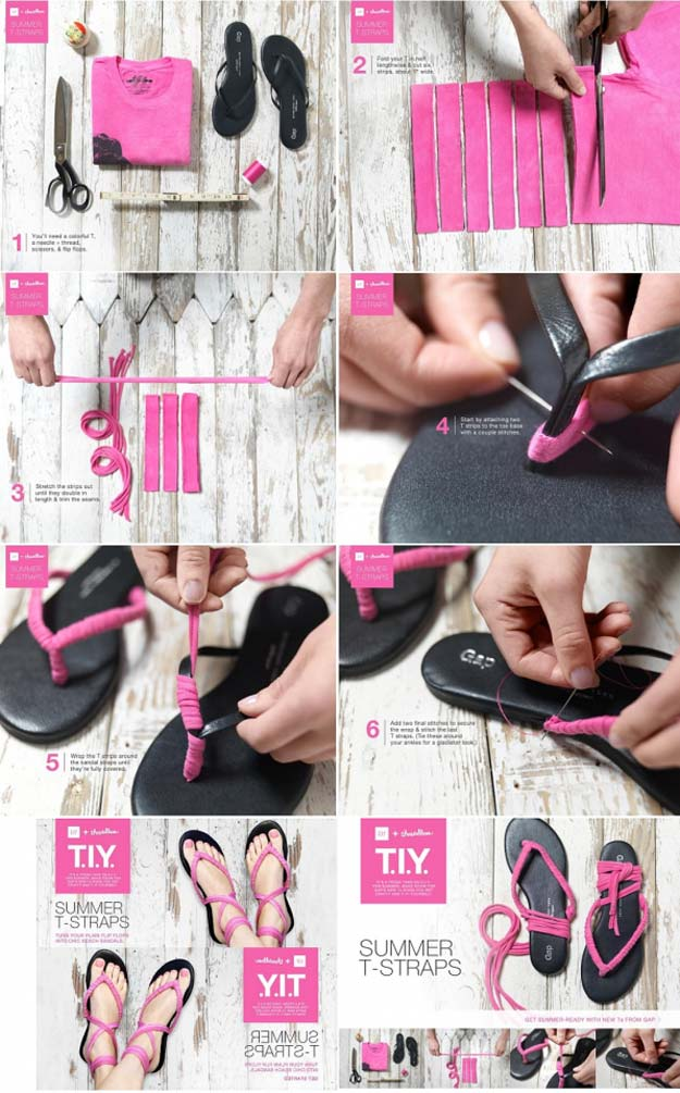 711961c8316b0 DIY Sandals and Flip Flops - Simple Yet Chic DIY Shoes - Creative