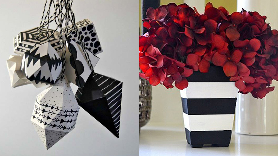 35 diy room decor ideas in black and white - Diy Room Decor Ideas