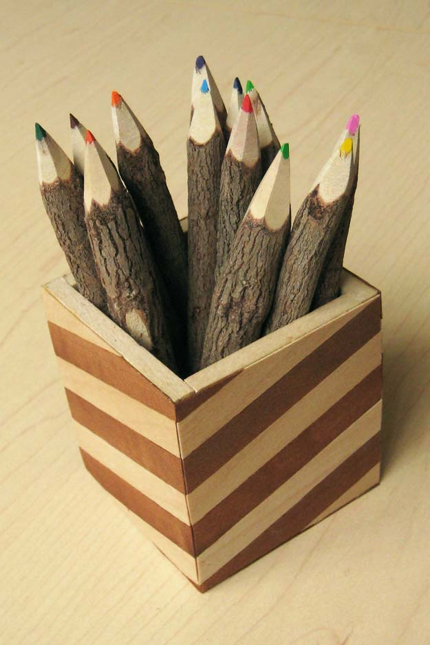 Fun DIY Ideas for Your Desk - Desktop Pencil Cup - Cubicles, Ideas for Teens and Student - Cheap Dollar Tree Storage and Decor for Offices and Home - Cool DIY Projects and Crafts for Teens http://diyprojectsforteens.com/diy-ideas-desk