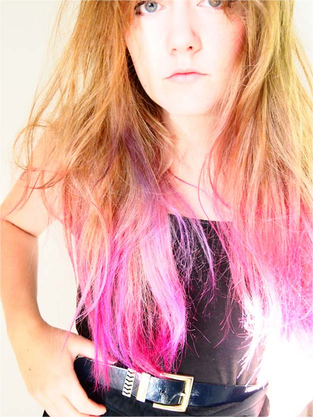 Creative DIY Hair Tutorials - Hot Pink Ombré - Color, Rainbow, Galaxy and Unique Styles for Long, Short and Medium Hair - Braids, Dyes, Instructions for Teens and Women http://diyprojectsforteens.com/creative-hair-tutorials