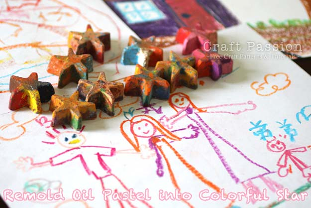 Crafts to Make and Sell - Recycle Oil Pastels & Crayons - Easy Step by Step Tutorials for Fun, Cool and Creative Ways for Teenagers to Make Money Selling Stuff - Room Decor, Accessories, Gifts and More http://diyprojectsforteens.com/diy-crafts-to-make-and-sell