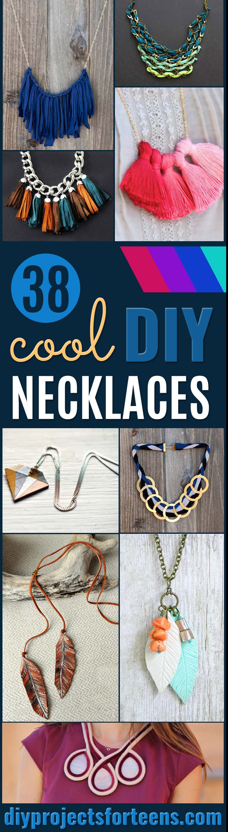 DIY Necklace Ideas - Pendant, Beads, Statement, Choker, Layered Boho, Chain and Simple Looks - Creative Jewlery Making Ideas for Women and Teens, Girls - Crafts and Cool Fashion Ideas for Teenagers