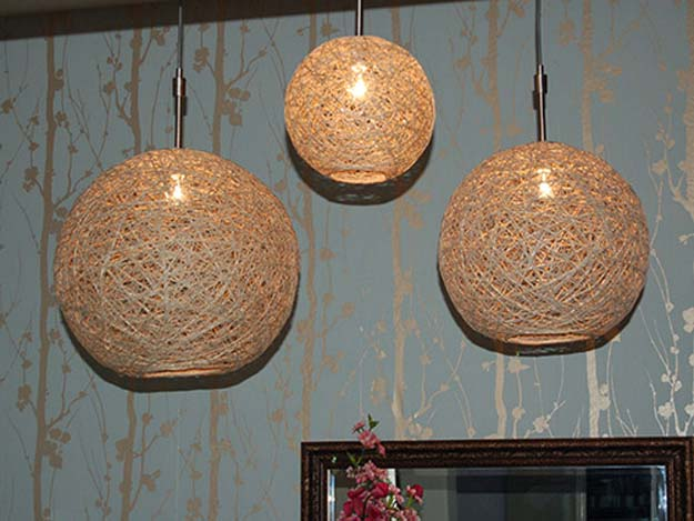 Crafts to Make and Sell - Hemp Pendant Lamp - Easy Step by Step Tutorials for Fun, Cool and Creative Ways for Teenagers to Make Money Selling Stuff - Room Decor, Accessories, Gifts and More http://diyprojectsforteens.com/diy-crafts-to-make-and-sell
