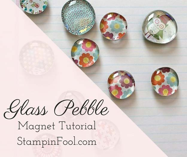 Crafts to Make and Sell - Glass Pebble Magnet - Easy Step by Step Tutorials for Fun, Cool and Creative Ways for Teenagers to Make Money Selling Stuff - Room Decor, Accessories, Gifts and More http://diyprojectsforteens.com/diy-crafts-to-make-and-sell