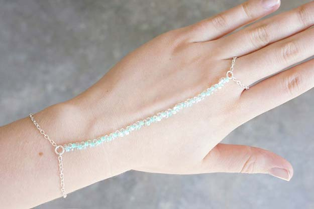 DIY Bracelets - DIY Turquoise Beaded Ring Bracelet - Cool Jewelry Making Tutorials for Making Bracelets at Home - Handmade Bracelet Crafts and Easy DIY Gift for Teens, Girls and Women - With String, Wire, Leather, Beaded, Bangle, Braided, Boho, Modern and Friendship - Cheap and Quick Homemade Jewelry Ideas