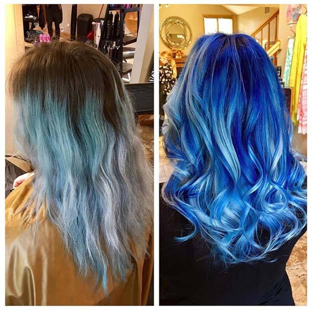 Creative DIY Hair Tutorials - Faded To Captivating Blue - Color, Rainbow, Galaxy and Unique Styles for Long, Short and Medium Hair - Braids, Dyes, Instructions for Teens and Women #hairstyles #hairideas #beauty #teens #easyhairstyles