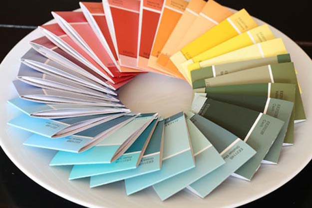 DIY Projects Made With Paint Chips - Paint Chip Notepads - Best Creative Crafts, Easy DYI Projects You Can Make With Paint Chips - Cool and Crafty How To and Project Tutorials - Crafty DIY Home Decor Ideas That Make Awesome DIY Gifts and Christmas Presents for Friends and Family http://diyjoy.com/diy-projects-paint-chips
