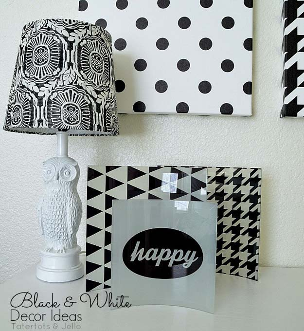 DIY Room Decor Ideas In Black And White   Black And White Wall Art    Creative