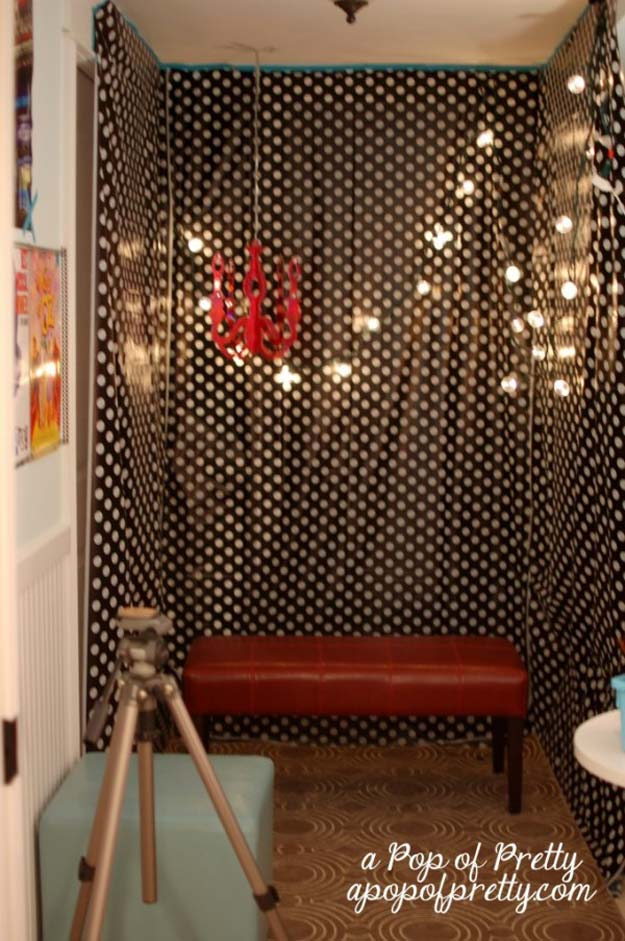 DIY Selfie Ideas - DIY Photo Booth - Cool Ideas for Photo Booth and Picture Station - Props, Light, Mirror, Board, Wall, Background and Tips for Shooting Best Selfies - DIY Projects and Crafts for Teens