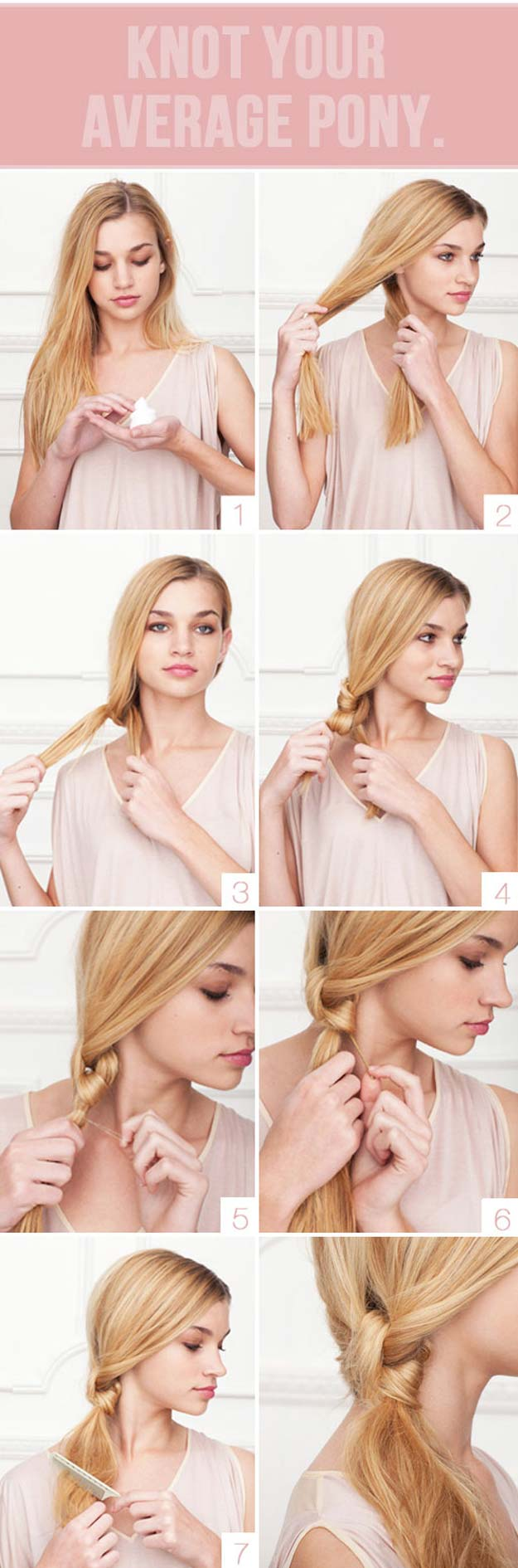 Creative DIY Hair Tutorials - Knot Your Average Pony - Color, Rainbow, Galaxy and Unique Styles for Long, Short and Medium Hair - Braids, Dyes, Instructions for Teens and Women #hairstyles #hairideas #beauty #teens #easyhairstyles