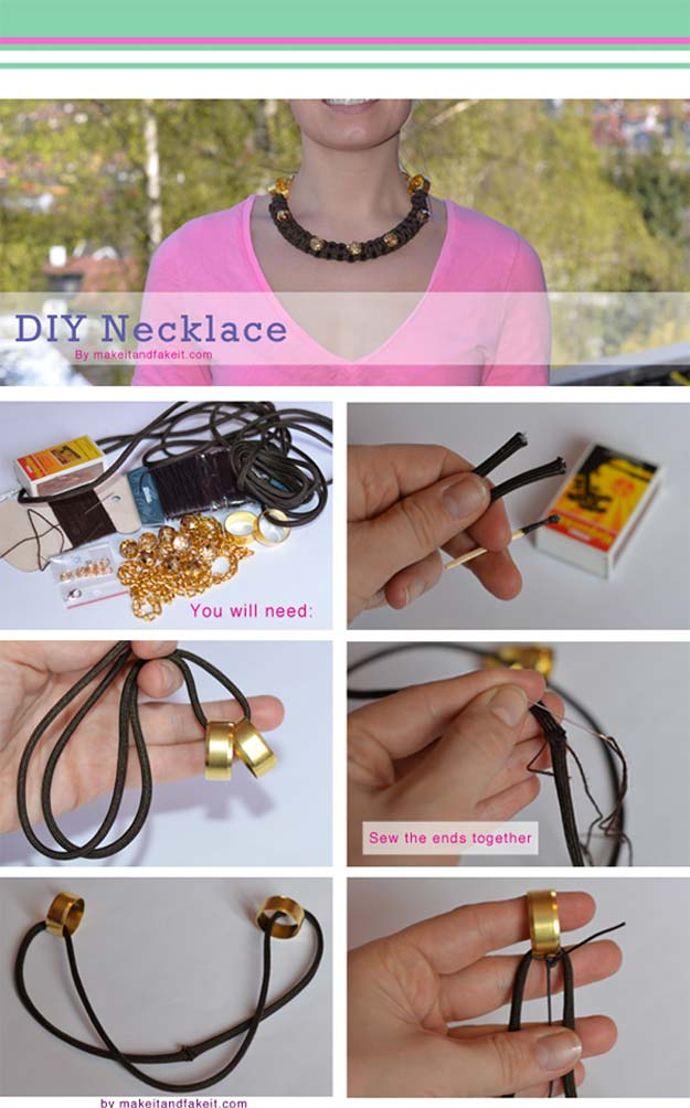 Crafts to Make and Sell - Parachute Statement Necklace - Easy Step by Step Tutorials for Fun, Cool and Creative Ways for Teenagers to Make Money Selling Stuff - Room Decor, Accessories, Gifts and More http://diyprojectsforteens.com/diy-crafts-to-make-and-sell