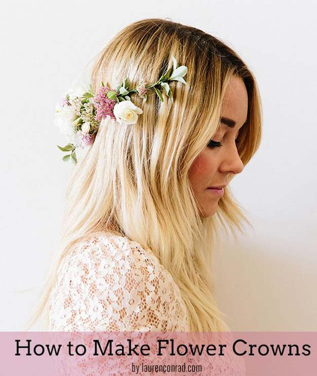 Crafts to Make and Sell - Flower Crowns - Easy Step by Step Tutorials for Fun, Cool and Creative Ways for Teenagers to Make Money Selling Stuff - Room Decor, Accessories, Gifts and More http://diyprojectsforteens.com/diy-crafts-to-make-and-sell