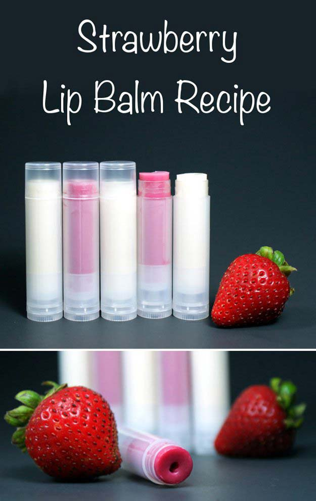 Crafts to Make and Sell - Strawberry Lip Balm - Easy Step by Step Tutorials for Fun, Cool and Creative Ways for Teenagers to Make Money Selling Stuff - Room Decor, Accessories, Gifts and More http://diyprojectsforteens.com/diy-crafts-to-make-and-sell
