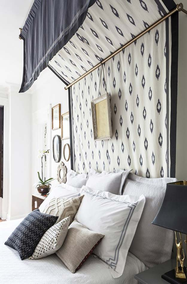 DIY Room Decor Ideas in Black and White - DIY Bed Canopy - Creative Home Decor and Room Accessories - Cheap and Easy Projects and Crafts for Wall Art, Bedding, Pillows, Rugs and Lighting - Fun Ideas and Projects for Teens, Apartments, Adutls and Teenagers http://diyprojectsforteens.com/diy-decor-black-white