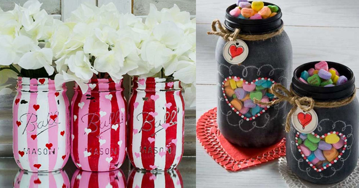 Best DIY Valentines Day Gifts - projectnamehere - Cute Mason Jar Valentines Day Gifts and Crafts for Him and Her | Boyfriend, Girlfriend, Mom and Dad, Husband or Wife, Friends - Easy DIY Ideas for Valentines Day for Homemade Gift Giving and Room Decor | Creative Home Decor and Craft Projects for Teens, Teenagers, Kids and Adults