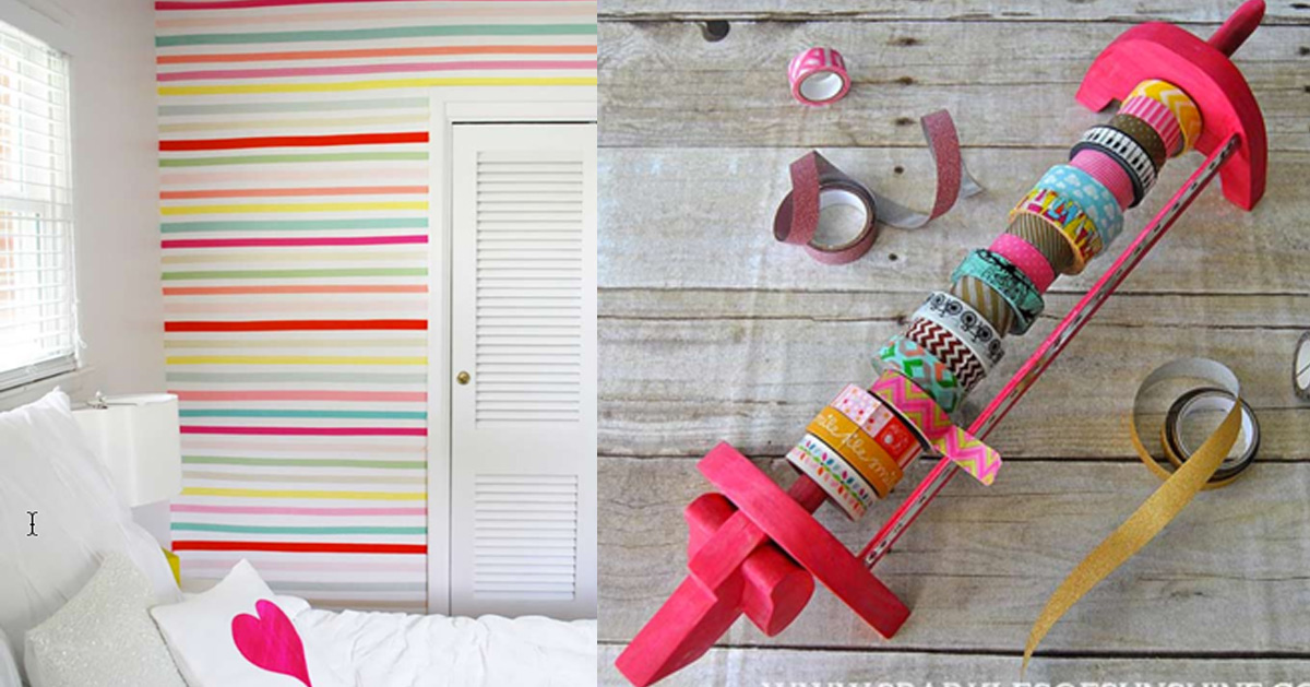 78 best washi tape ideas ever. Black Bedroom Furniture Sets. Home Design Ideas