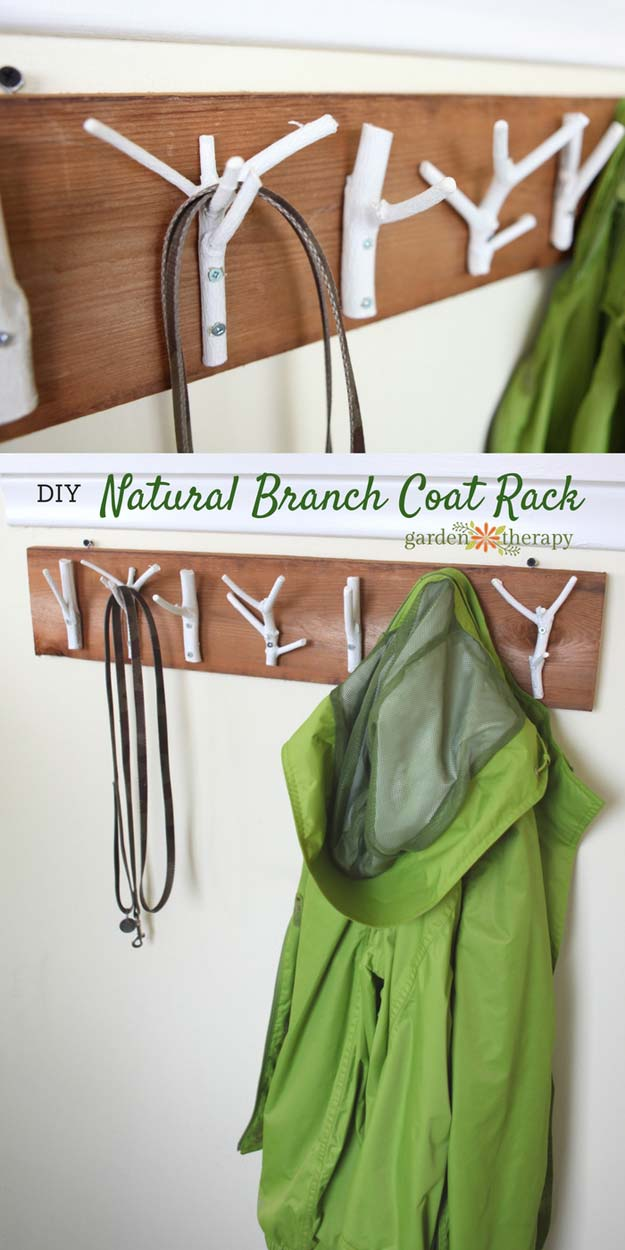 DIY Room Decor Ideas for Boys - DIY Natural Branch Coat Rack - Teen Bedroom Decor Idea for Boy - Wall Art, Lighting, Lamps, Shelves, Bedding, Curtains and Rugs for Boy Rooms - Easy Step by Step Tutorials and Projects for Decorating Teens and Tweens Rooms http://diyprojectsforteens.com/diy-room-decor-boys