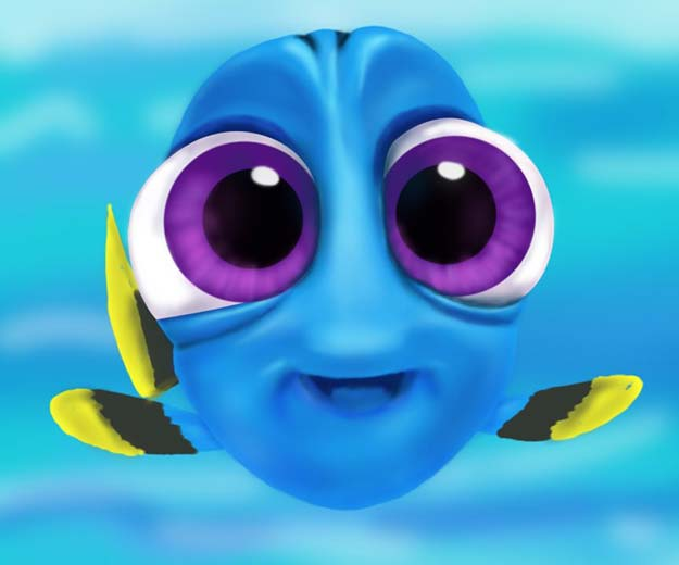 Cool Drawing Tutorials - How To Draw Baby Dory From Finding Dory - Learn How To Draw Animals, Easy People, Step by Step Drawing and Tutorial With Instructions - Creative Arts and Crafts Ideas for Teens - Shapes, Shading, Buildings, School Art Projects, Drawing for Beginners and Teenagers, Kids #drawing #art #drawingtutorials