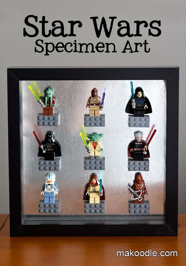 DIY Room Decor Ideas for Boys - - Star Wars Specimen Art - Teen Bedroom Decor Idea for Boy - Wall Art, Lighting, Lamps, Shelves, Bedding, Curtains and Rugs for Boy Rooms - Easy Step by Step Tutorials and Projects for Decorating Teens and Tweens Rooms http://diyprojectsforteens.com/diy-room-decor-boys