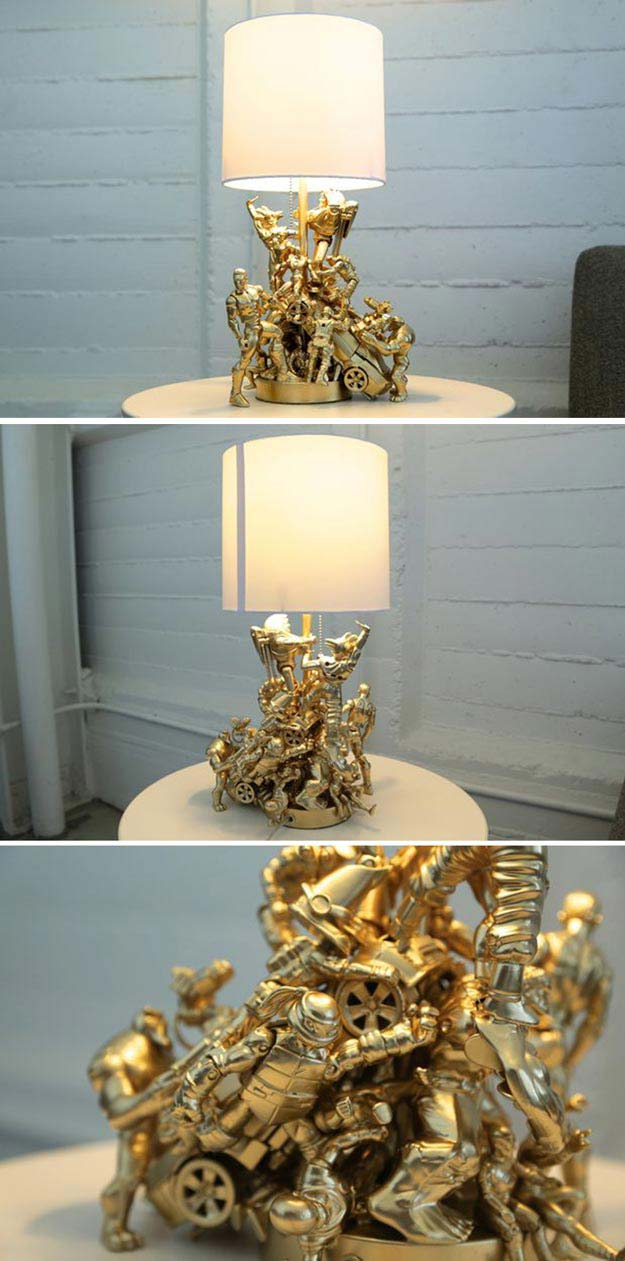 12 Lamps Wall Decor : DIY Room Decor for Boys - DIY Projects for Teens