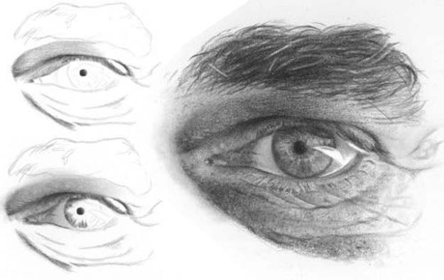 Easy Drawing Ideas- How To Draw Realistic Eyes Tutorial - Learn How To Draw Animals, Easy People, Step by Step Drawing and Tutorial With Instructions - Creative Arts and Crafts Ideas for Teens - Shapes, Shading, Buildings, School Art Projects, Drawing for Beginners and Teenagers, Kids #drawing #art #drawingtutorials