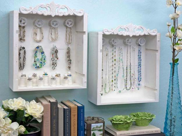 All White DIY Room Decor - Wine Crate Jewelry Display Boxes - Creative Home Decor Ideas for the Bedroom and Teen Rooms - Do It Yourself Crafts and White Wall Art, Bedding, Curtains, Lamps, Lighting, Rugs and Accessories - Easy Room Decoration Ideas for Girls, Teens and Tweens - Cute DIY Gifts and Projects With Step by Step Tutorials and Instructions http://diyprojectsforteens.com/diy-room-decor-white