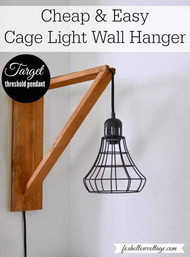 DIY Room Decor Ideas for Boys - - Industrial Cage Light Wall Hanger - Teen Bedroom Decor Idea for Boy - Wall Art, Lighting, Lamps, Shelves, Bedding, Curtains and Rugs for Boy Rooms - Easy Step by Step Tutorials and Projects for Decorating Teens and Tweens Rooms http://diyprojectsforteens.com/diy-room-decor-boys