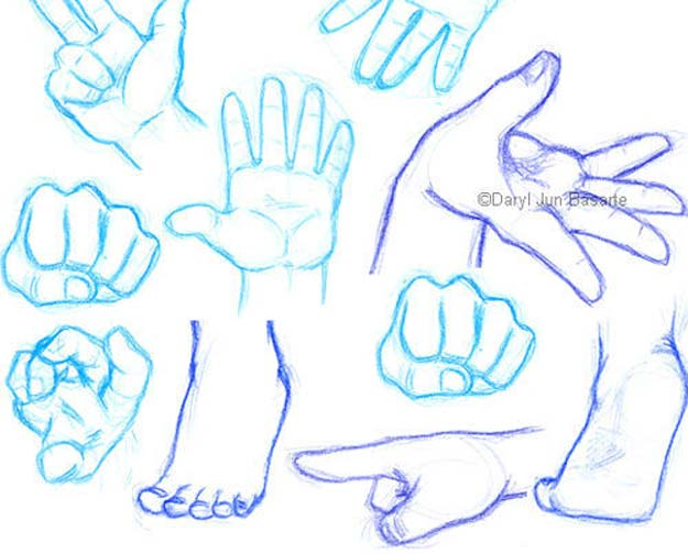 Cool Drawing Tutorials - How To Draw Hands and Feet - Learn How To Draw Animals, Easy People, Step by Step Drawing and Tutorial With Instructions - Creative Arts and Crafts Ideas for Teens - Shapes, Shading, Buildings, School Art Projects, Drawing for Beginners and Teenagers, Kids http://diyprojectsforteens.com/cool-drawing-tutorials