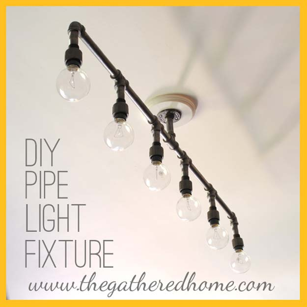 DIY Room Decor Ideas for Boys - - How To Make A Fabulous Plumbing Pipe Light Fixture - Teen Bedroom Decor Idea for Boy - Wall Art, Lighting, Lamps, Shelves, Bedding, Curtains and Rugs for Boy Rooms - Easy Step by Step Tutorials and Projects for Decorating Teens and Tweens Rooms http://diyprojectsforteens.com/diy-room-decor-boys