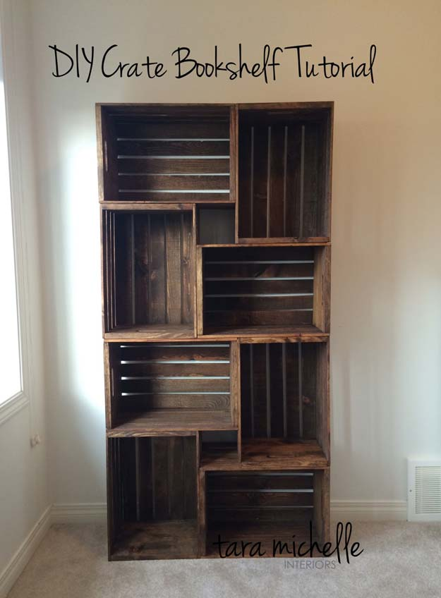 DIY Room Decor Ideas For Boys     DIY Crate Bookshelf Tutorial   Teen Bedroom  Decor