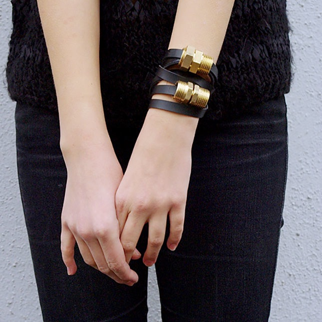 DIY Bracelets - Plumbing Supplies Bracelet - Cool Jewelry Making Tutorials for Making Bracelets at Home - Handmade Bracelet Crafts and Easy DIY Gift for Teens, Girls and Women - With String, Wire, Leather, Beaded, Bangle, Braided, Boho, Modern and Friendship - Cheap and Quick Homemade Jewelry Ideas
