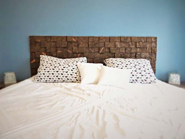DIY Room Decor Ideas For Boys     DIY Wood Block Headboard   Teen Bedroom  Decor