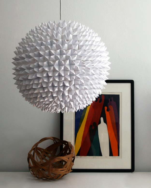 All White DIY Room Decor - Faceted Pendant Lights – The Large Sphere - Creative Home Decor Ideas for the Bedroom and Teen Rooms - Do It Yourself Crafts and White Wall Art, Bedding, Curtains, Lamps, Lighting, Rugs and Accessories - Easy Room Decoration Ideas for Girls, Teens and Tweens - Cute DIY Gifts and Projects With Step by Step Tutorials and Instructions http://diyprojectsforteens.com/diy-room-decor-white