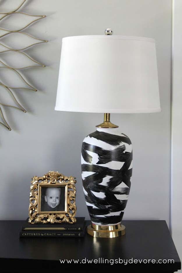 All White DIY Room Decor - DIY Abstract Lamp - Creative Home Decor Ideas for the Bedroom and Teen Rooms - Do It Yourself Crafts and White Wall Art, Bedding, Curtains, Lamps, Lighting, Rugs and Accessories - Easy Room Decoration Ideas for Girls, Teens and Tweens - Cute DIY Gifts and Projects With Step by Step Tutorials and Instructions http://diyprojectsforteens.com/diy-room-decor-white