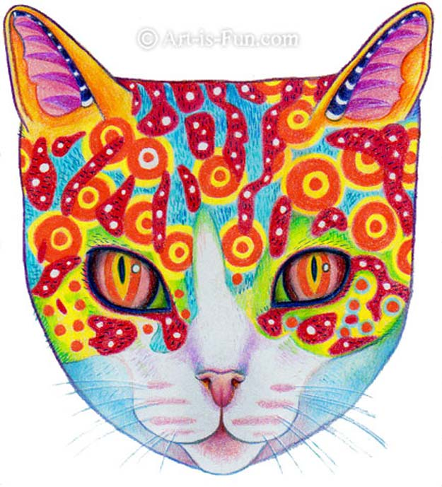 Cool Drawing Tutorials - How To Draw A Cat Illustration - Learn How To Draw Animals, Easy People, Step by Step Drawing and Tutorial With Instructions - Creative Arts and Crafts Ideas for Teens - Shapes, Shading, Buildings, School Art Projects, Drawing for Beginners and Teenagers, Kids http://diyprojectsforteens.com/cool-drawing-tutorials