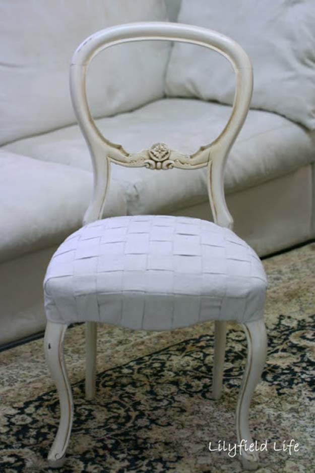 All White DIY Room Decor - DIY Woven Upholstery Tutorial - Creative Home Decor Ideas for the Bedroom and Teen Rooms - Do It Yourself Crafts and White Wall Art, Bedding, Curtains, Lamps, Lighting, Rugs and Accessories - Easy Room Decoration Ideas for Girls, Teens and Tweens - Cute DIY Gifts and Projects With Step by Step Tutorials and Instructions http://diyprojectsforteens.com/diy-room-decor-white